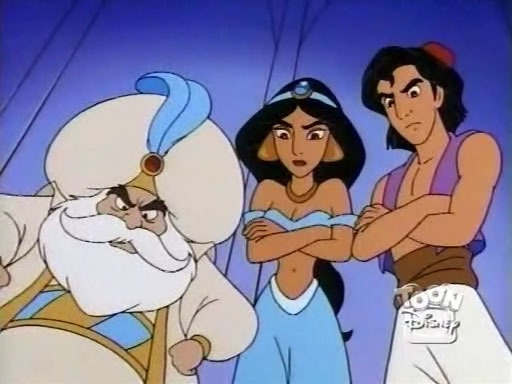 File:Aladdin, Jasmine & The Sultan.jpg