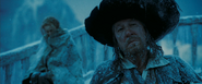 Barbossa in the freezing sea