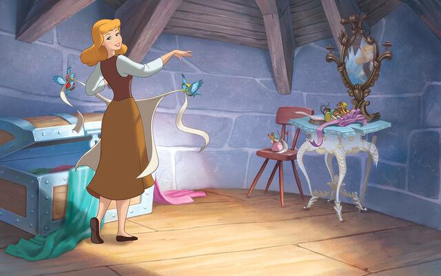 File:Disney Princess Cinderella's Story Illustraition 1.jpg