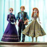 Elsa, kristoff, anna doll