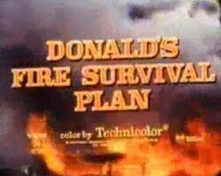 Donalds fire survival plan