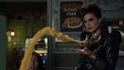 Once Upon a Time - 6x10 - Wish You Were Here - Evil Queen with Genie Lamp