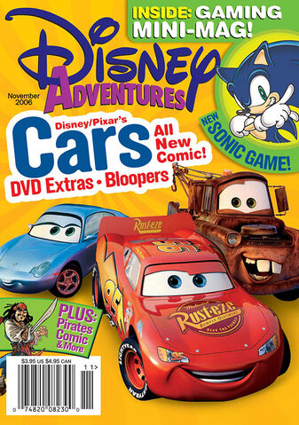 File:Disney Adventures Magazine cover November 2006 Cars movie.jpg