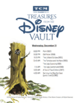 Treasures from The Disney Vault December 2016 Schedule