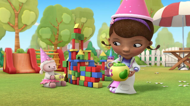 File:Doc and lambie playing princess tea party.jpg