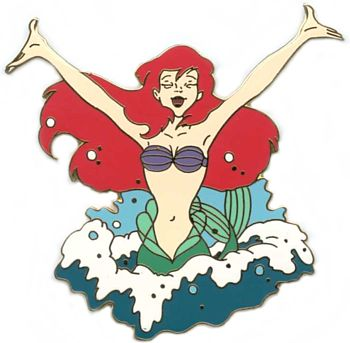 File:Little Mermaid Wooden Boxed Pin Set (Ariel Jumping Out of Water).jpeg