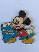 Rhode Island Mickey Pin