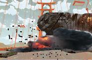 Godzilla destroys San Fransokyo Bridge