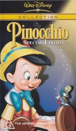 Pinocchio au vhs col