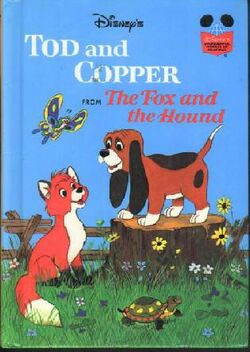 Tod and copper from the fox and the hound wonderful world of reading