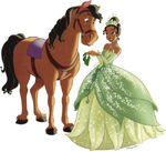 Tiana feeding horse