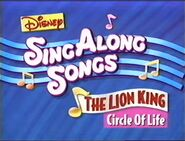 Disney's Sing Along Songs - Circle of Life - 1994 VHS Title Card