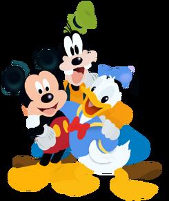 Mickey Donald and Goofy Full Bodies Toystoryfan artwork