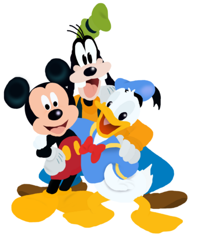 File:Mickey Donald and Goofy Full Bodies Toystoryfan artwork.png