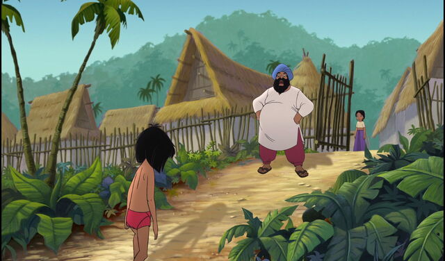 File:Mowgli is walking back to his father.jpg