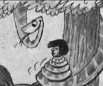 Bill Peet Kaa and Mowgli