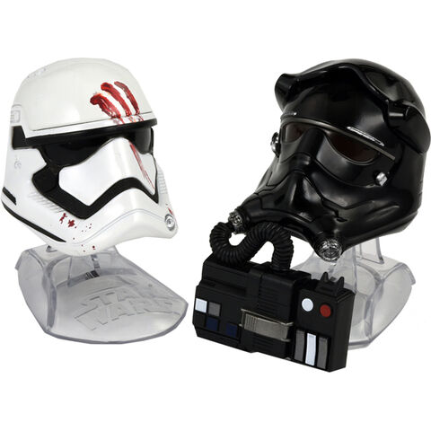 File:Finn and First Order Tie Pilot Helmets Black Series.jpg