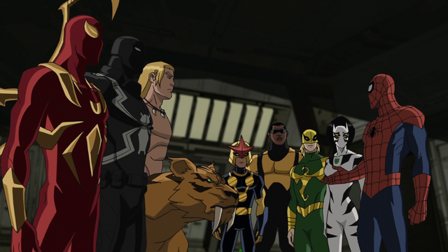File:Spider-Man introduces his new warriors to his team USMWW.png