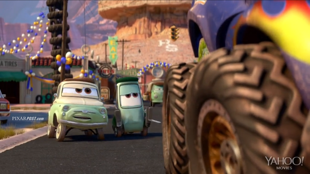 File:Pixar Post - Radiator Springs 500 and a half - Luigi and Guido.png