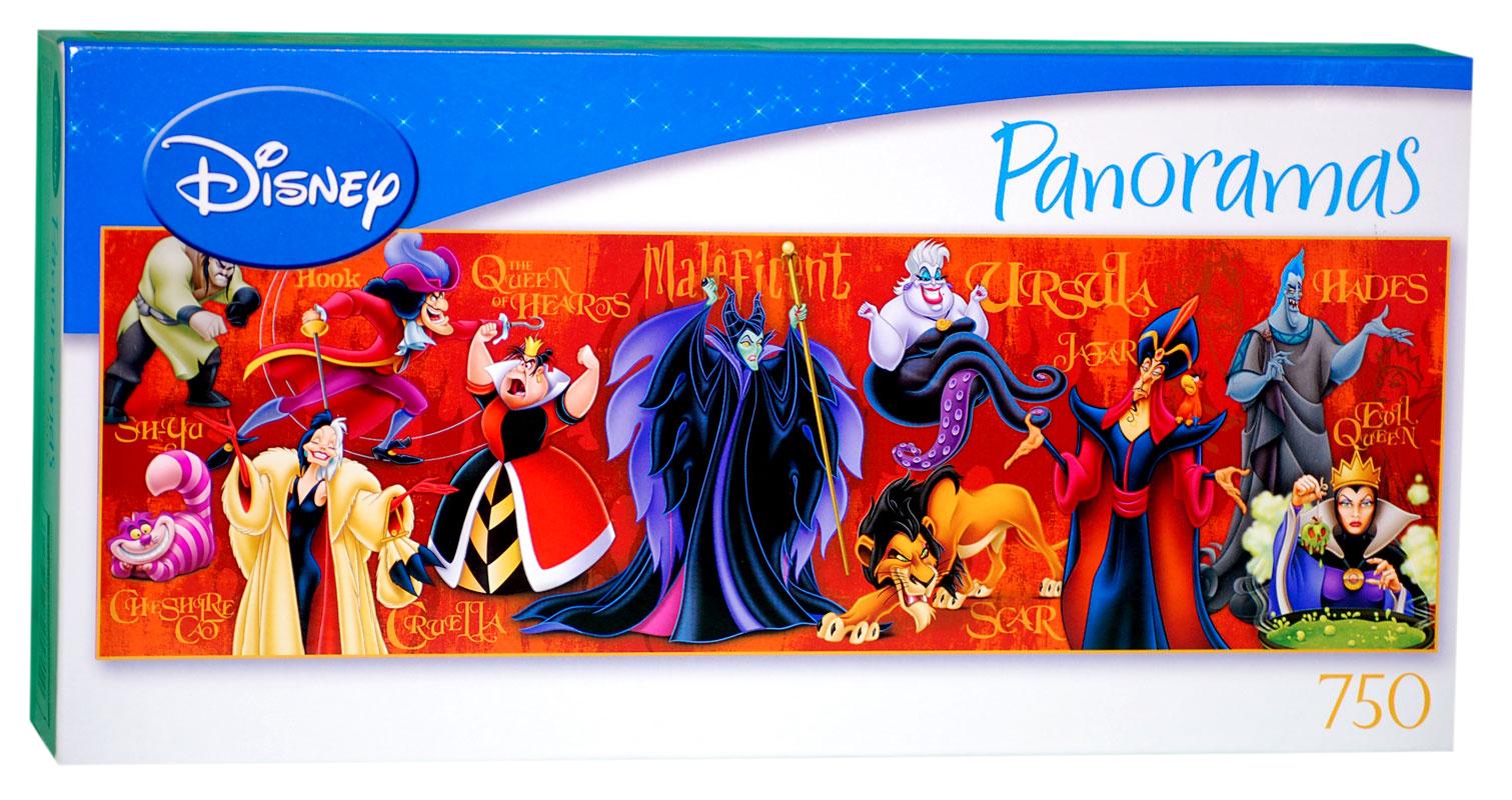 Disneys Atlantis The Villains: Disney Villains Panorama Jigsaw Puzzle.jpg