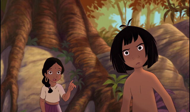 File:Mowgli found out Shanti is showing him Shere Khan the Tiger.jpg