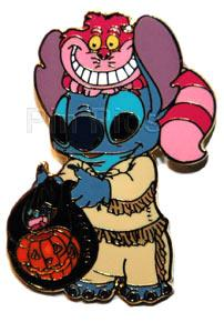 File:DSF - Halloween 2006 - Stitch as Davy Crockett Cheshire Cat as Coonskin Cap (Surprise Release).jpeg