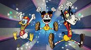 Mickey Donald Goofy Touchdown and Out