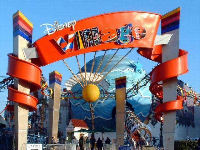 File:Disney Village entrance.jpg