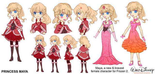 File:Princess Maya (Frozen 2 Character Idea).png