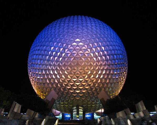File:Spaceship Earth at night.jpg