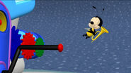 Buzz buzz found the little trumpet
