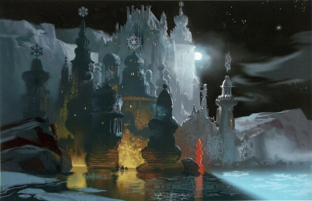 File:Disney's Frozen (The Snow Queen) - Early Concept (Visual Development) Art of Elsa's Ice Palace by Paul Felix.jpg