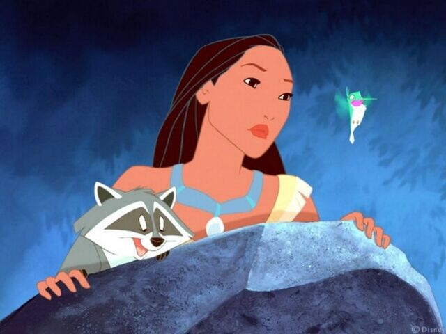 File:Pocahontas, Meeko, and Flit.jpg