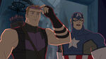Avengers Assemble Cap and Hawkeye