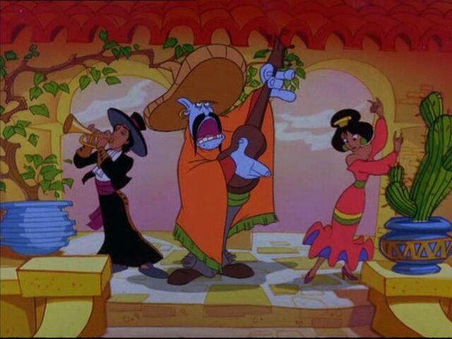 File:Aladdin, Jasmine & Genie - The Return of Jafar.jpg