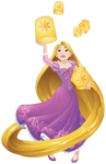 Rapunzel with lanterns