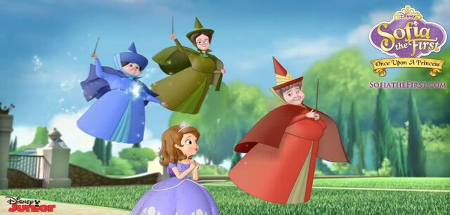 File:Sofia&Flora, Fauna and Merryweather.jpg