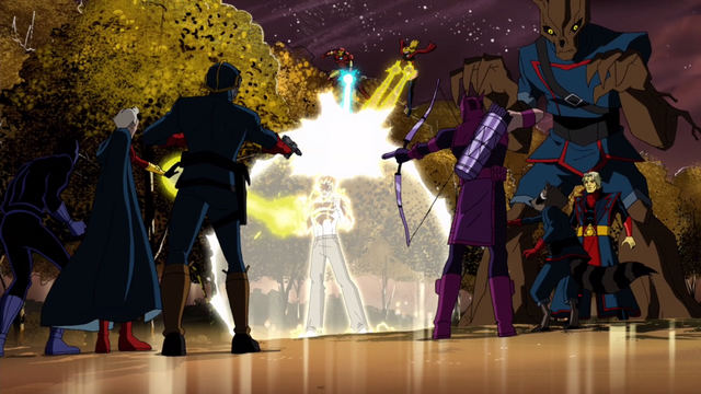 File:The Avengers and the guardians against Korvac.png