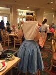 Alice at Disney World cafe
