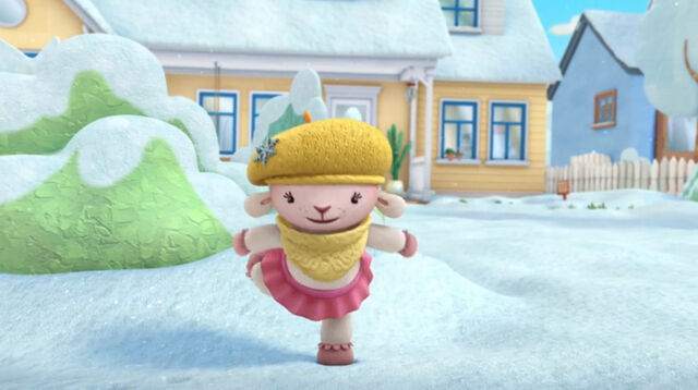 File:Lambie dancing in the snow.jpg