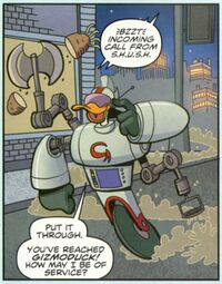 Gizmoduck's new armor