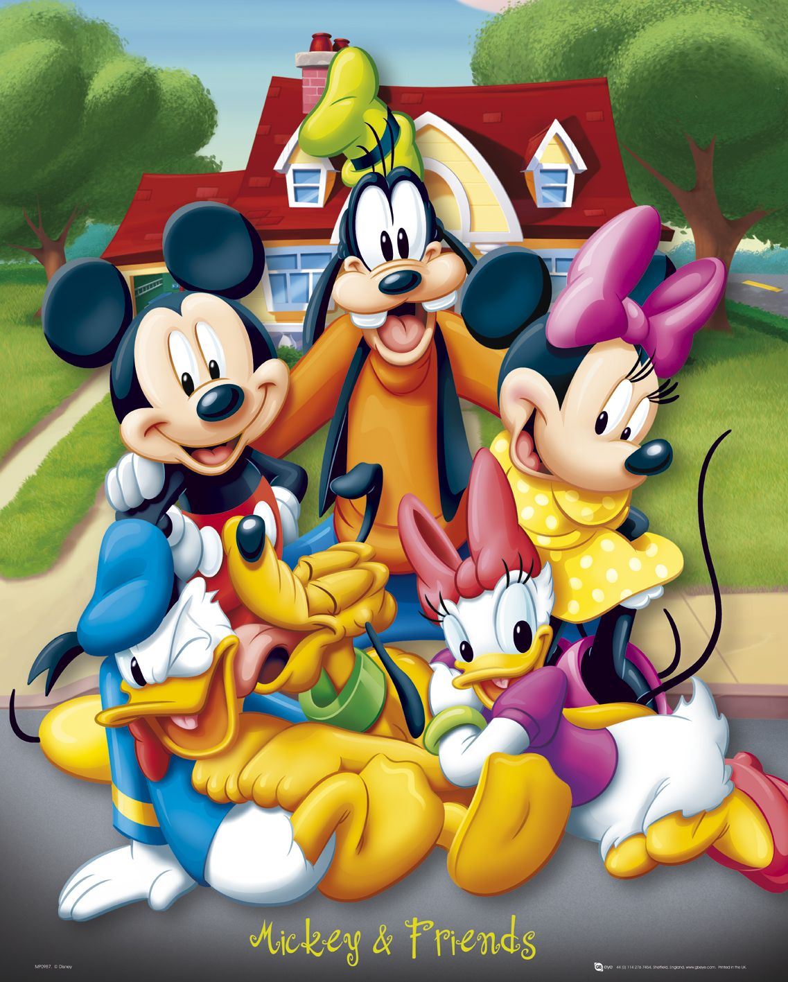Image mickey mouse and friends mini poster p g