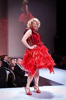 Ali Liebert wearing Momo at 2012 The Heart Truth celebrity fashion show
