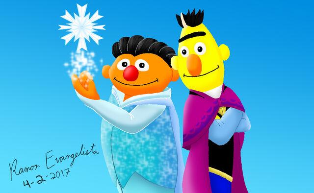 File:Bert and Ernie as Anna and Elsa (final).jpg
