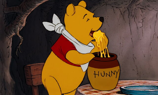 File:Winnie the Pooh is about to eat honey.jpg