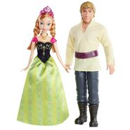 Mattel Disney Frozen Princess Anna of Arendelle and Kristoff Dolls