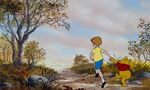Winnie the Pooh and Christopher Robin are both running off together