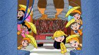 Fireside Girls in raingear