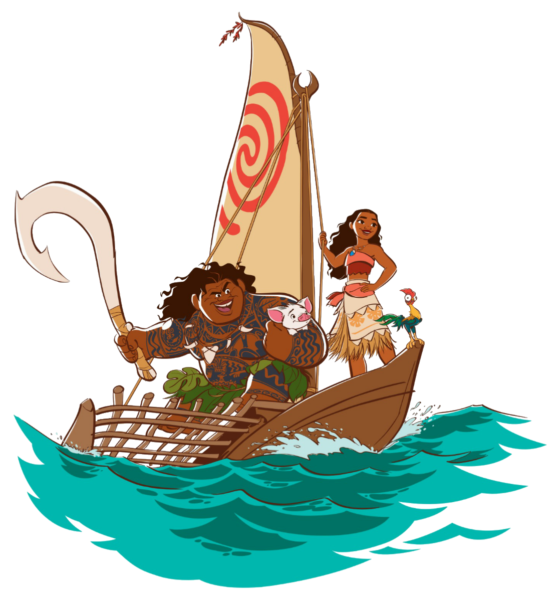 image moana s team png disney wiki fandom powered by wikia Finding Nemo Clip Art Lilo and Stitch Clip Art