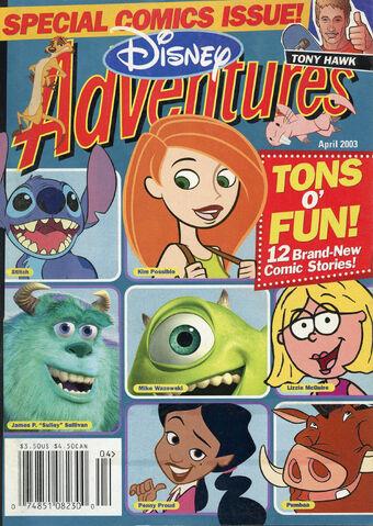 File:Disney Adventures Magazine cover April 2003 comics Kim Possible.jpg